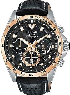 Pulsar Mens Analog Quartz Watch with Leather bracelet PZ5110X1