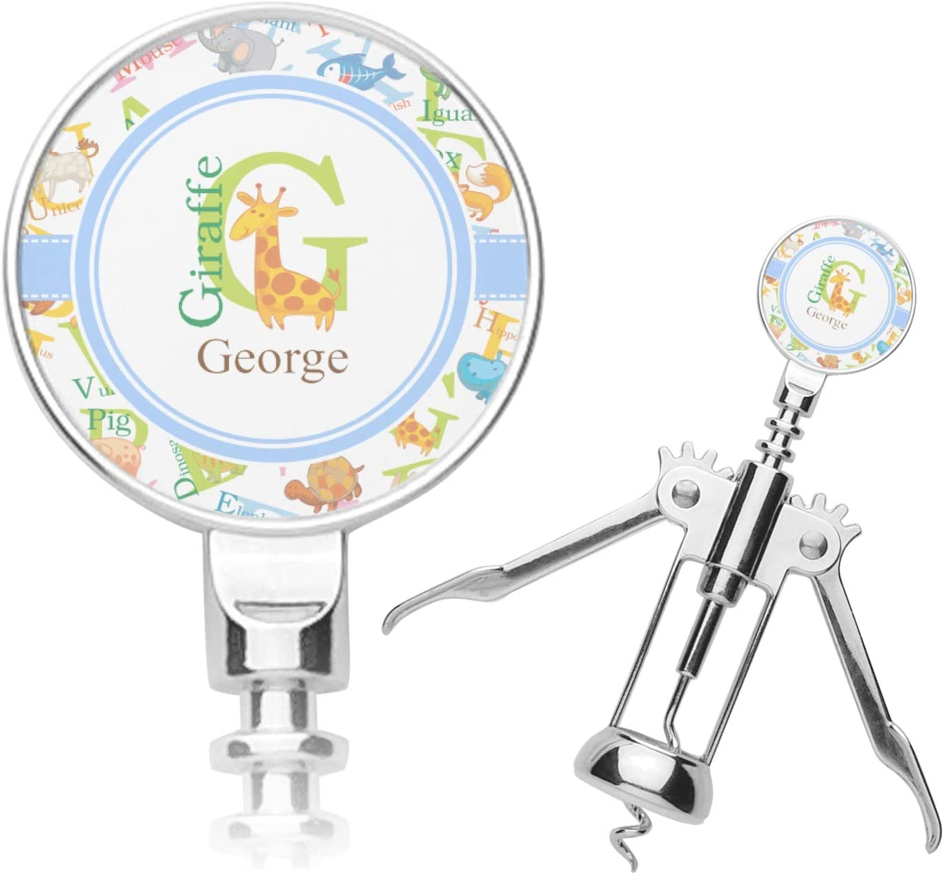 Daily bargain sale Animal Alphabet New Free Shipping Corkscrew Personalized