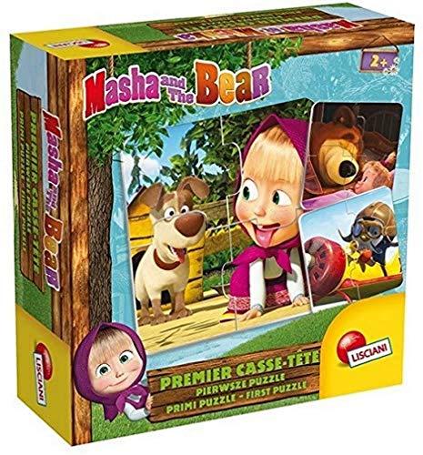 Lisciani - Juegos educativos - Masha y El Oso - Primero Puzle or Baby Logic, 78004