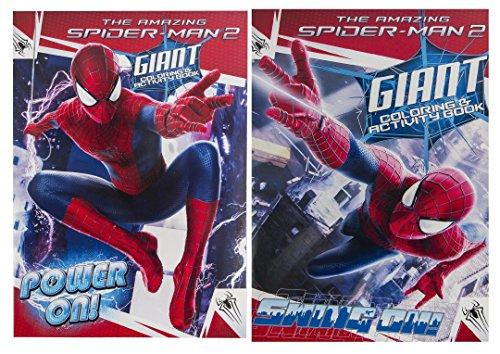 Marvel (Lot de 2 The Amazing Spiderman 2 géant coloriage et Livre d'activités de Puissance on & Swing sur