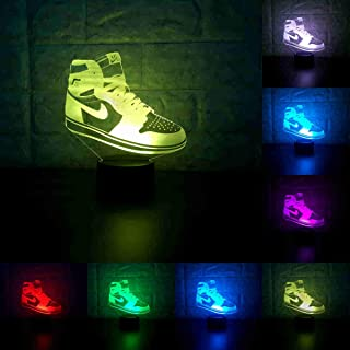 Sneakers 3D Lamp Table NightLight 7 Color Change Running Shoes LED Desk Light Touch Multicolored USB Power As Home Decorat...
