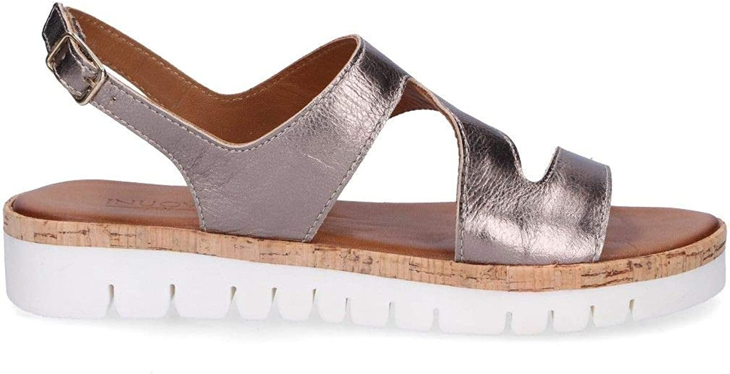 Inuovo Women's 7933BRONZE Bronze Leather Sandals