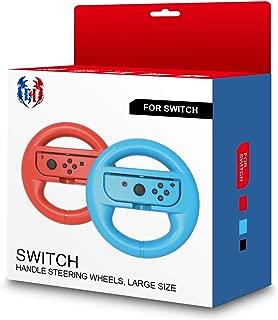 GH 大型サイズの成人向け Switch マリオカート 8 デラックス ハンドル , Nintendo スイッチ ジョイコン (Joy-Con) コントローラー 専用 2個 セット(赤1+青1)