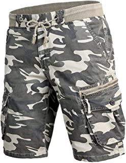Fashion Mens Cotton Pocket Camouflage Outdoors Work Cargo Camo Shorts Pant