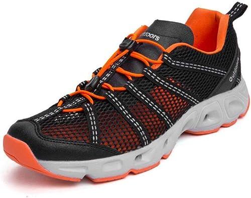 Hhor baskets, Chaussures de rivière, Chaussures de Sport pour Hommes, Nouvelles Chaussures de Plein air été, Chaussures de séchage Rapide pour Alpinisme, Chaussures de pêche amphibies (Taille  44)