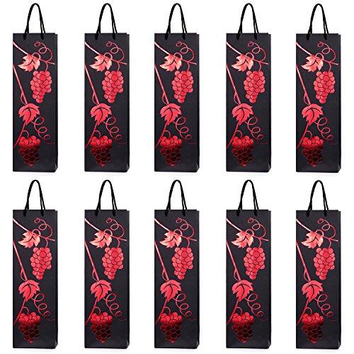 10 Flessentasjes, geschenktasjes voor wijn, prosecco en champagne 40 x 12 x 9 cm wijnstok rode wijn