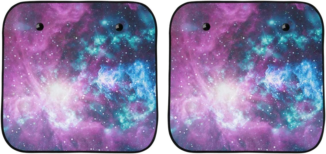 ENEVOTX National products Car Rare Window Shade for Space Women Universe Beauty Galaxy