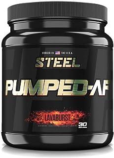 Steel Supplements Pumped-AF Pre Workout Powder w/Hydromax & Kre-Alkalyn | Caffeine Free, Increase Blood Flow & Hydration |...
