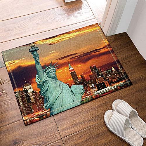 GAOFENFFR Amerikanische Unabhängigkeitserklärung der Freiheitsstatue, New York Hintergrund Wasserdicht, haltbar, rutschfest, Keine Chemikalien