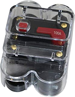 Perfk 40Amp-300Amp 12V-36V DC Circuit Breaker with Manual Reset for Trolling Motor, Auto, Car, Marine, Boat,Bike Stereo Au...
