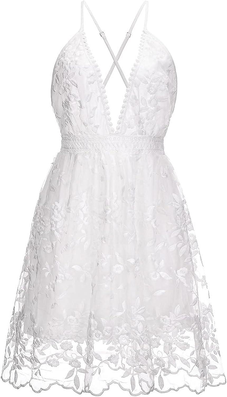 Sexy Spaghetti Strap Tank Dress Solid Color Ladies Lace Dress Built in Bra Tunic Belt White Maxi Dress