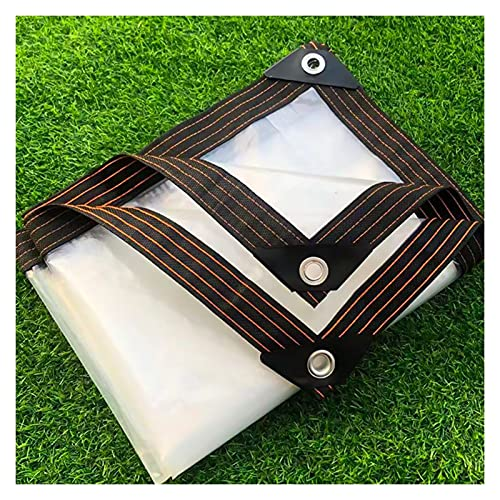 XXIOJUN Paño Impermeable Transparente Tela Toldo con Perforaciones, Plegable Adecuado para Jardines,...