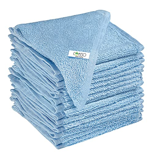 9 Pack Kitchen Cleaning Sponge Cloth Dish Towels - Lint Free Dishcloths Super Absorbent Dishtowels Reusable Cloth for Kitchen Home Car Dish Rags Scrub Hand Towel Drying Fast Blue