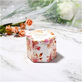 Gift Box 20 Pcs Candy Box Hexagon Gift Box Donut Bag Sweet Chocolate Packaging Case for Wedding Theme Party Favor Gifts Gi...