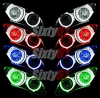 Sixty61 Headlight Halos for Yamaha R6 2003-2005 / R6S 2006-2009 CCFL Demon Angel Eyes lights rings (red)