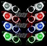 Sixty61 Headlight Halos for Yamaha R1 2007-2008 CCFL Demon Angel Eyes lights rings (Red)