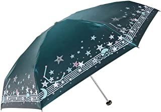 JMTLLYS Folding Telescopic Umbrella, Ultra-Light Mini Sun Protection Pocket Umbrella, Anti-UV Sunshade Small Clear Umbrellas (Color : Green)