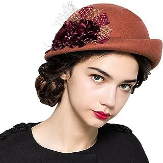 Women's Lace Flower Wool Beret Cap