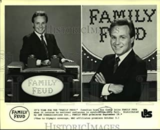 Historic Images - Press Photo Ray Combs Hosts Family Feud, on NBC Television.