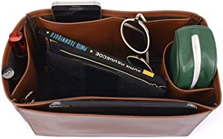 Bayswater Deluxe Leather Handbag Organizer in Brown Color, Leather bag insert for Mulberry Bayswater, Express Shipping