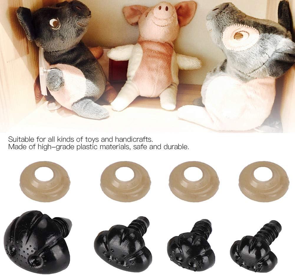 Hunde dreiecknasen mit Dichtungen f/ür Amigurumi Puppet Pl/üschtier und Teddyb/är Atyhao Kunststoff Sicherheits Nasen Flacher Typ