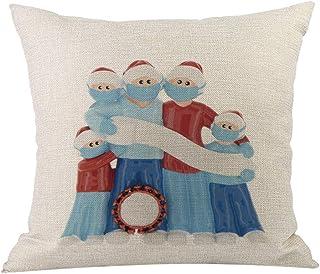 ZhuoXuBeiMaoYiYouXianGongSi - Funda de cojín de Navidad, 45 x 45 cm, algodón y lino, funda de almohada para decoración del hogar