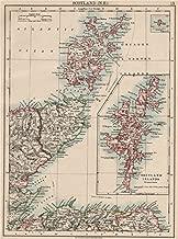 Moray Firth. Caithness Elgin Shetlands Orkneys. Scotland. Johnston - 1903 - Old map - Antique map - Vintage map - Printed maps of Scotland