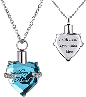BGAFLOVE Urn Necklaces for Ashes for Human Ashes, Small Keepsake Urn for Dog Ashes
