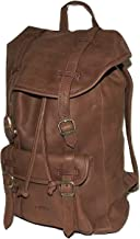 I Medici of Florence Italian Leather Laptop Backpack Brown