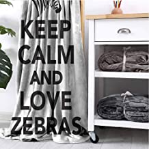 GAJIOE DIY Printing Blanket Zebra Print Couch Bed Napping Reading Recliner Keep Calm Love Quote W55 xL55