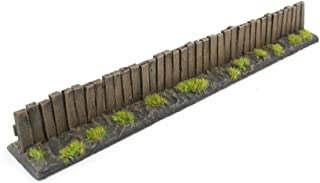 War World Gaming Wooden Fence Pre-Painted x 6– 20mm - 28mm Wargaming Tabletop Terrain Scenery Landscape Model Miniatures D...