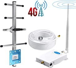 ATT Cell Phone Signal Booster 4G LTE 700Mhz Band12/17 AT&T Signal Booster Improve Data+Voice ATT Cell Phone Booster AT&T Mobile Signal Booster Amplifier Repeater with Whip+Yagi Antenna Kit for Home