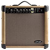 Stagg 40 AA R UK - Amplificador de guitarra acústica con Spring Reverb 40 W, color negro