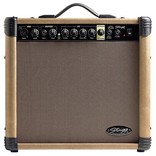 Stagg 25015613 40 AA R EU REVERB Acoustic Gitarre Amplifier (40 Watt)