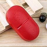 Epyz Portable 6-Slot Capsule Shape Storage Medicine Pill Box (Red)