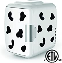 Cooluli Mini Fridge Electric Cooler and Warmer (4 Liter / 6 Can): AC/DC Portable Thermoelectric System w/ Exclusive On the Go USB Power Bank Option (Cow)