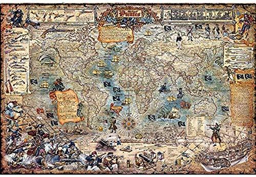LGCCC Ancient World Map Jigsaw Puzzle-500 Piece Jigsaw Puzzle Piezas en Adultos y niños Wooden Jigsaw Puzzles DIY Hecho a Mano - Adult Puzzles Difficult Growups Puzzle