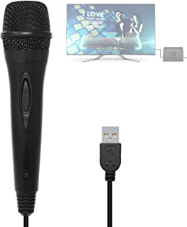 3M/10ft Wired USB Microphone for Nintendo Switch, Wii U, PS4, Xbox One, Xbox 360, PC, Compatible with Rock Band, Guitar Hero Karaoke Singing Games