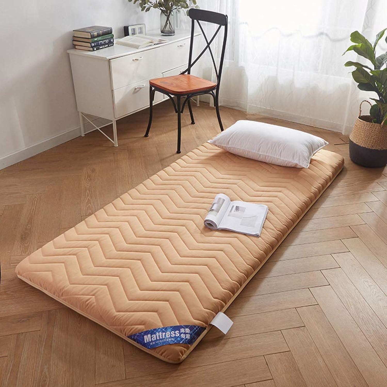 Thicken Tatami Mattress, Collapsible Non-Slip Mattress Pad Japanese Futon Tatami Mat Student Dormitory Roll Up Mattress-e 90x200cm(35x79inch)
