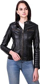 Leather Retail Woman Black Color Faux Leather Jacket