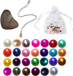 2019-Freshwater Cultured Love Wish Pearl Oyster with Round Pearl Inside 20 Colors ,Oysters with Pearls Inside Oysters with Pearls Oysters with Jewelry Inside Oyster with Pearl Inside