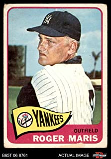 1965 Topps # 155 Roger Maris New York Yankees (Baseball Card) Dean's Cards 1.5 - FAIR Yankees