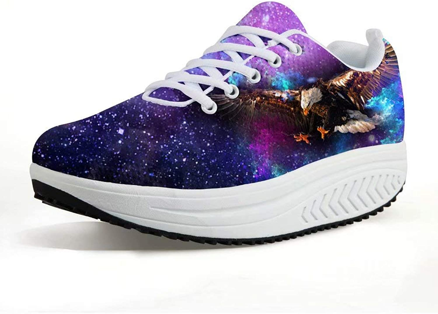 Advocator Galaxy Animal Printed Fitness Walking Sneaker Casual Wedges Platform shoes