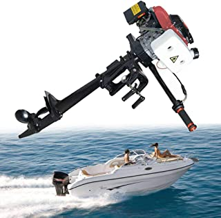SICAN New 4HP Boat Engine Heavy Duty 4 Stroke Outboard Motor Air Cooling System 52CC Boat Engine-Full Saltwater and Freshw...