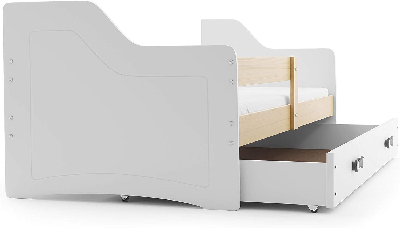 Cama niño individual SOFIX, 160x80, colchón, somier y cajón GRATIS! BLANCO