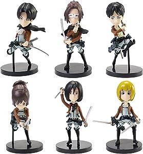 Anime Figures 6pcs Japanese Anime Figure Set Home Office Desktop Decoration Action Figures Toy Gift for Anime Fans