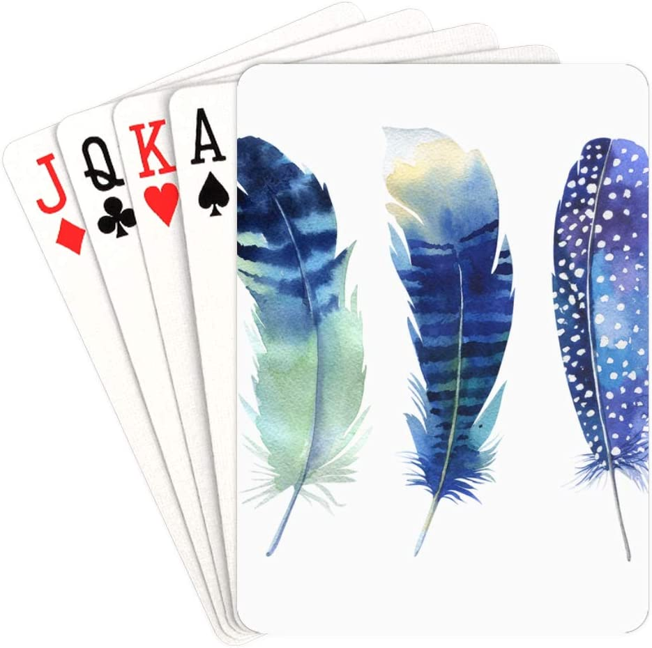 WUTMVING Fun Poker Cards White Playi Unique Gradual Feather Ranking TOP9 Cock New product