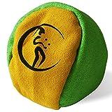 Profi Hacky Sack 2 Paneelen (Grun/Gelb) Pro Freestyle Footbag! Hacky Sacks für Anfänger, ideal...