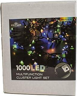 Kurt S. Adler Kurt Adler CUL 1000-Light 33-Foot Cluster Set with Multi-Color 3MM LED Bulbs String Lights