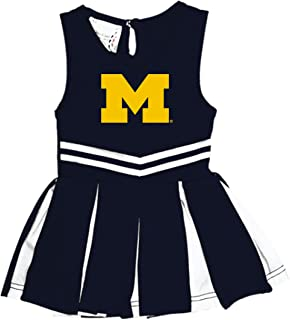 Michigan Wolverines NCAA Newborn Infant Baby Cheerleader Bodysuit Dress